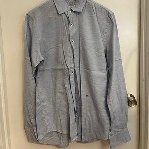 CH by Carolina Herrera chambray button down shirt. Used. Size 15 1/2